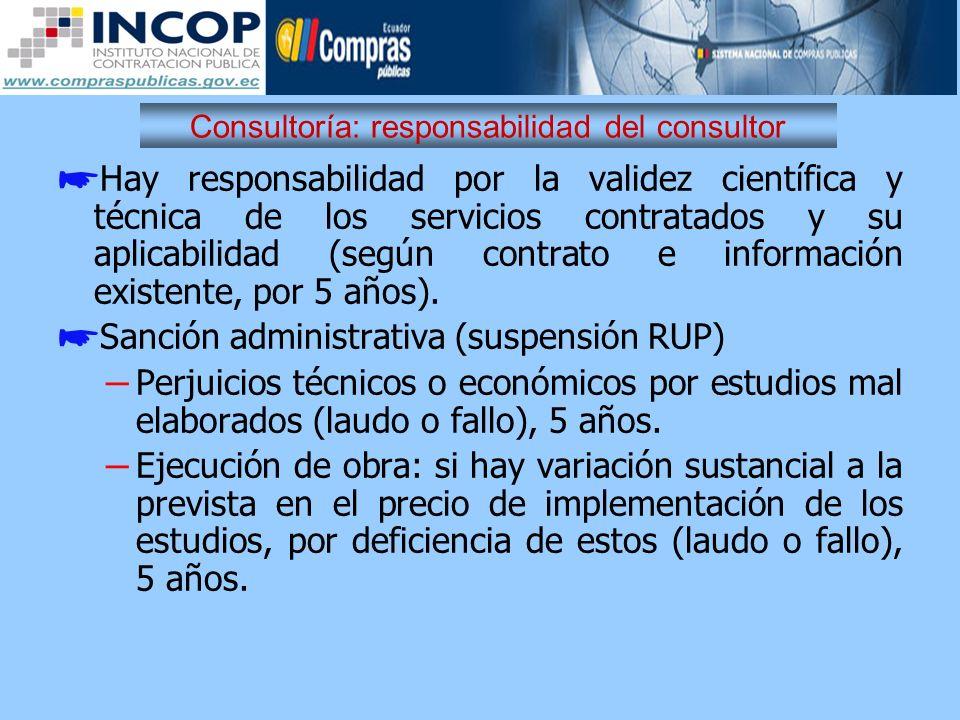 Consultoría: responsabilidad del consultor
