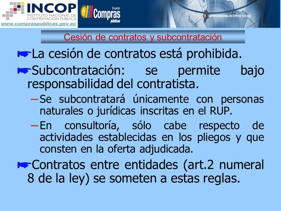 Cesión de contratos y subcontratación