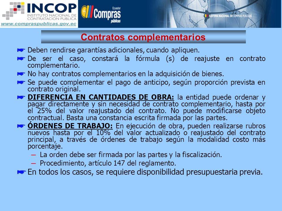 Contratos complementarios