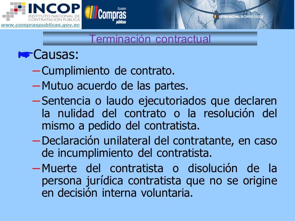 Terminación contractual