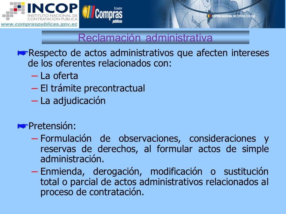 Reclamación administrativa