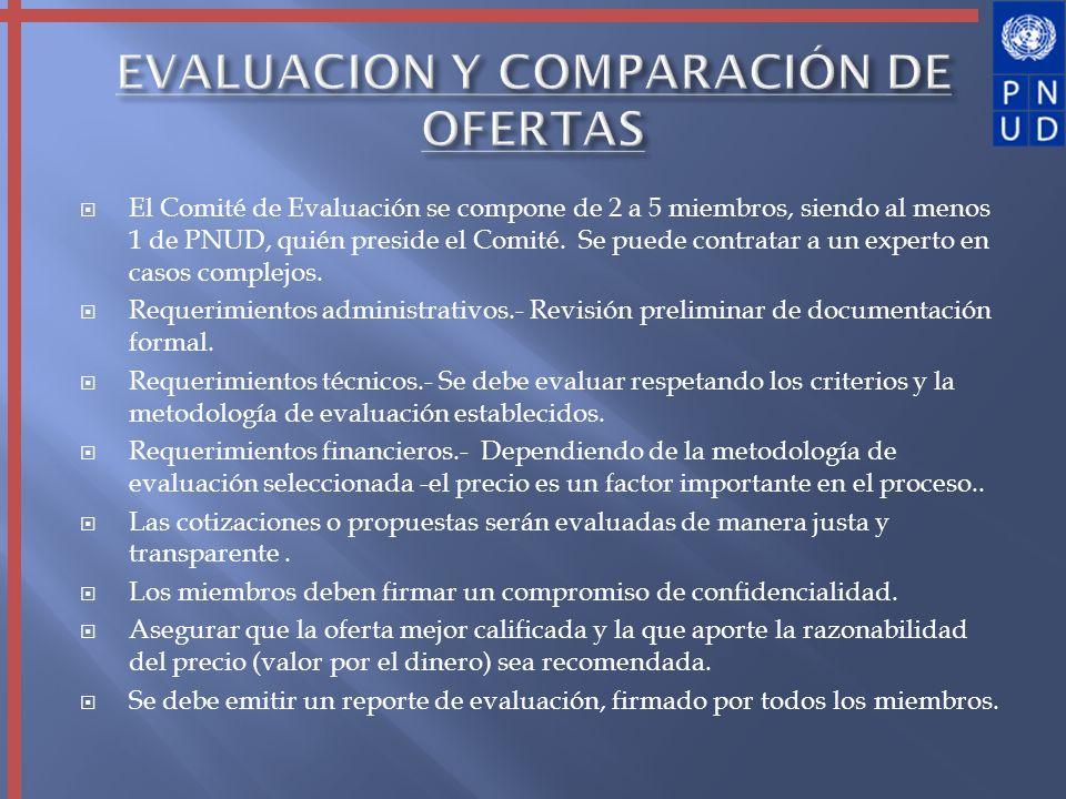 EVALUACION Y COMPARACIÓN DE OFERTAS