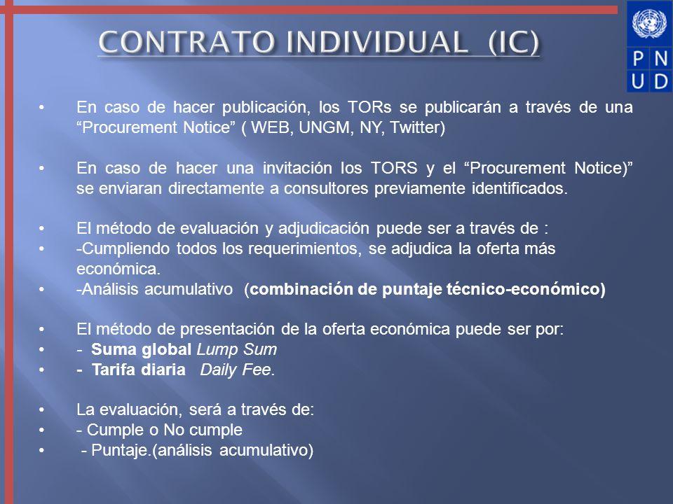 CONTRATO INDIVIDUAL (IC)