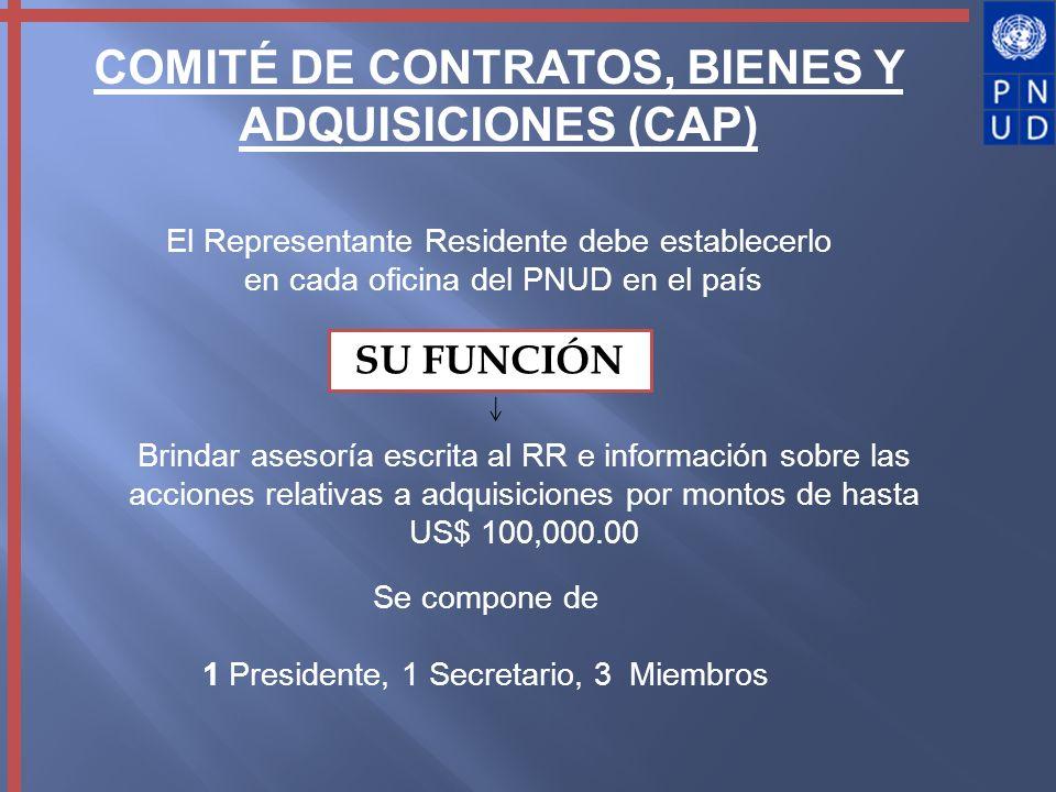 COMITÉ DE CONTRATOS, BIENES Y ADQUISICIONES (CAP)
