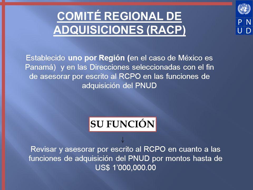 COMITÉ REGIONAL DE ADQUISICIONES (RACP)