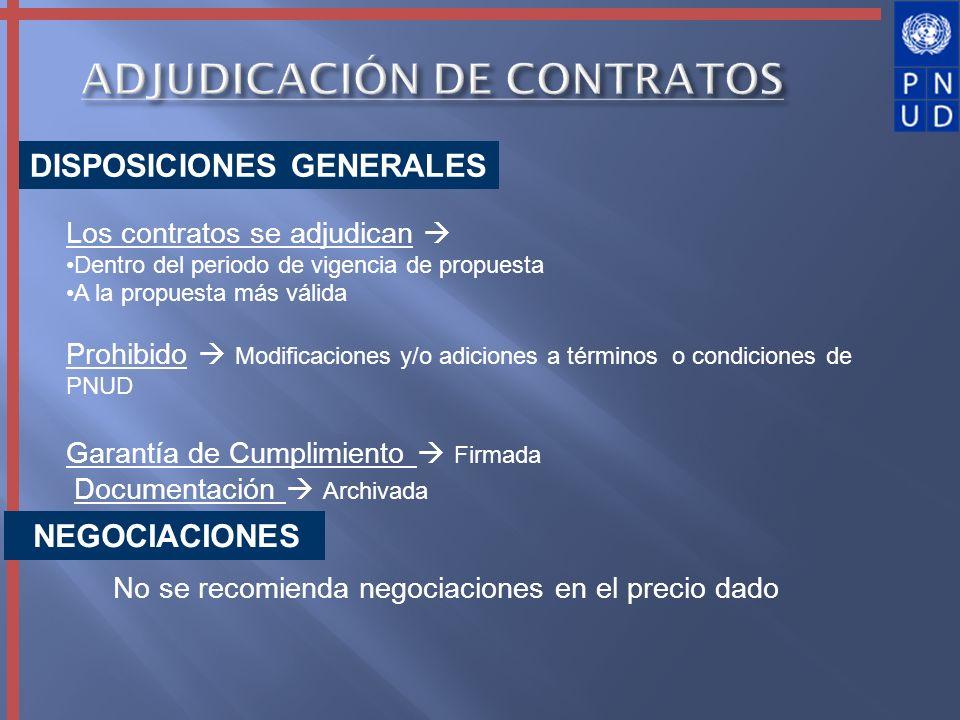 ADJUDICACIÓN DE CONTRATOS