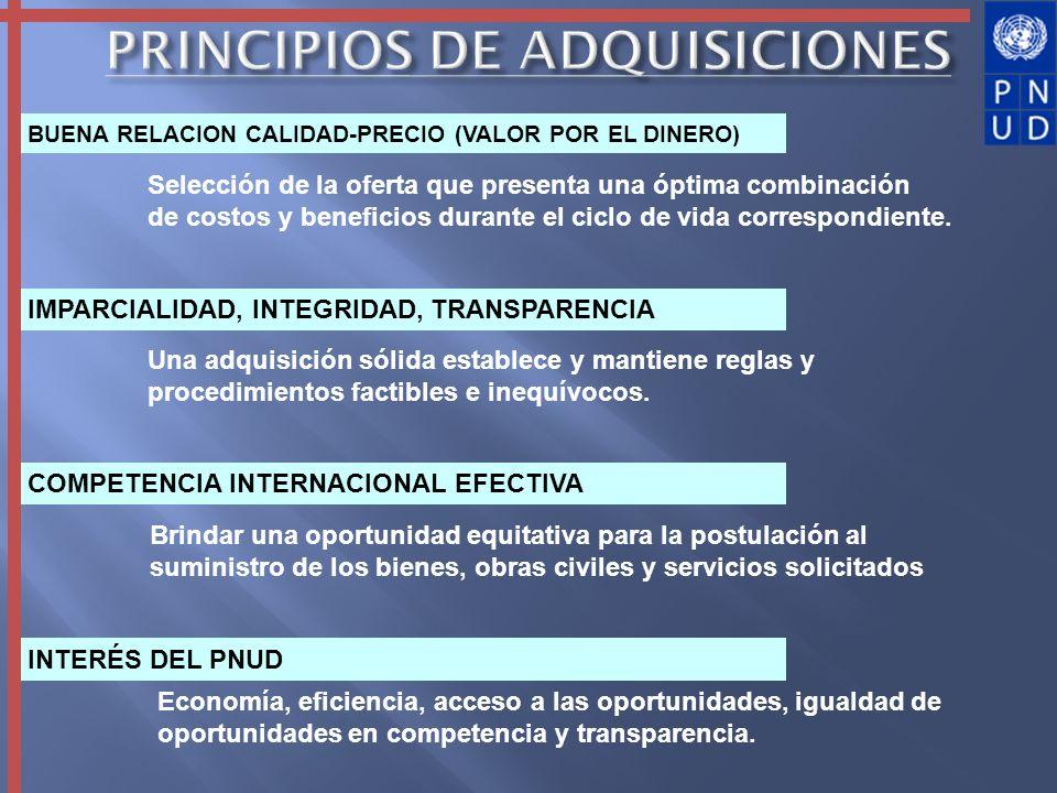 PRINCIPIOS DE ADQUISICIONES