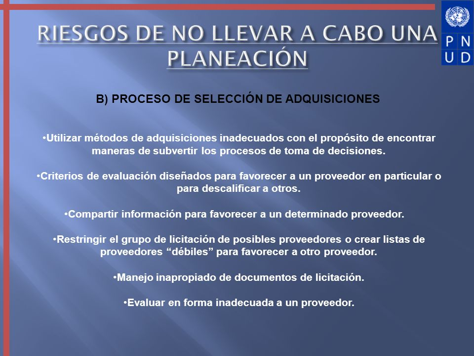 RIESGOS DE NO LLEVAR A CABO UNA PLANEACIÓN