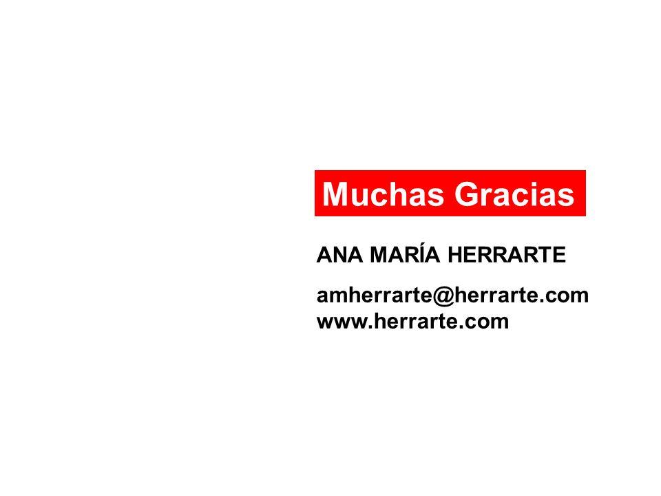 Muchas Gracias ANA MARÍA HERRARTE