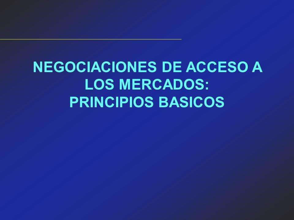 NEGOCIACIONES DE ACCESO A LOS MERCADOS: