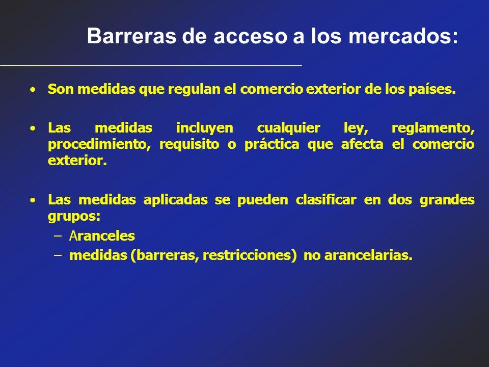 Barreras de acceso a los mercados: