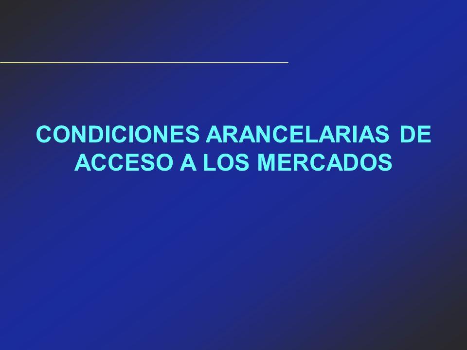 CONDICIONES ARANCELARIAS DE ACCESO A LOS MERCADOS