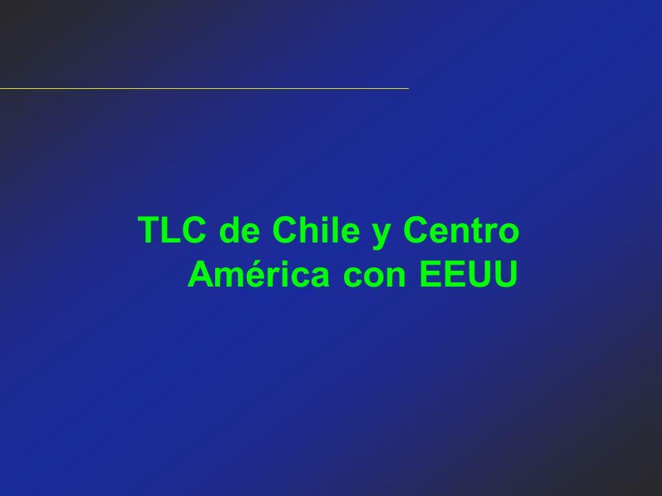 TLC de Chile y Centro América con EEUU