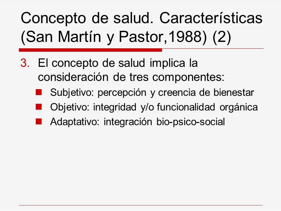 Concepto de salud. Características (San Martín y Pastor,1988) (2)
