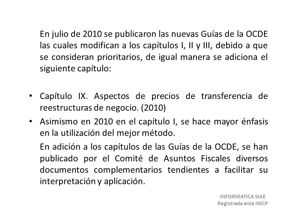 INFORMATICA SIAE Registrada ante IMCP
