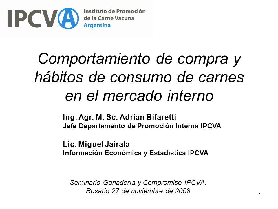 Comportamiento de compra y hábitos de consumo de carnes en el mercado interno
