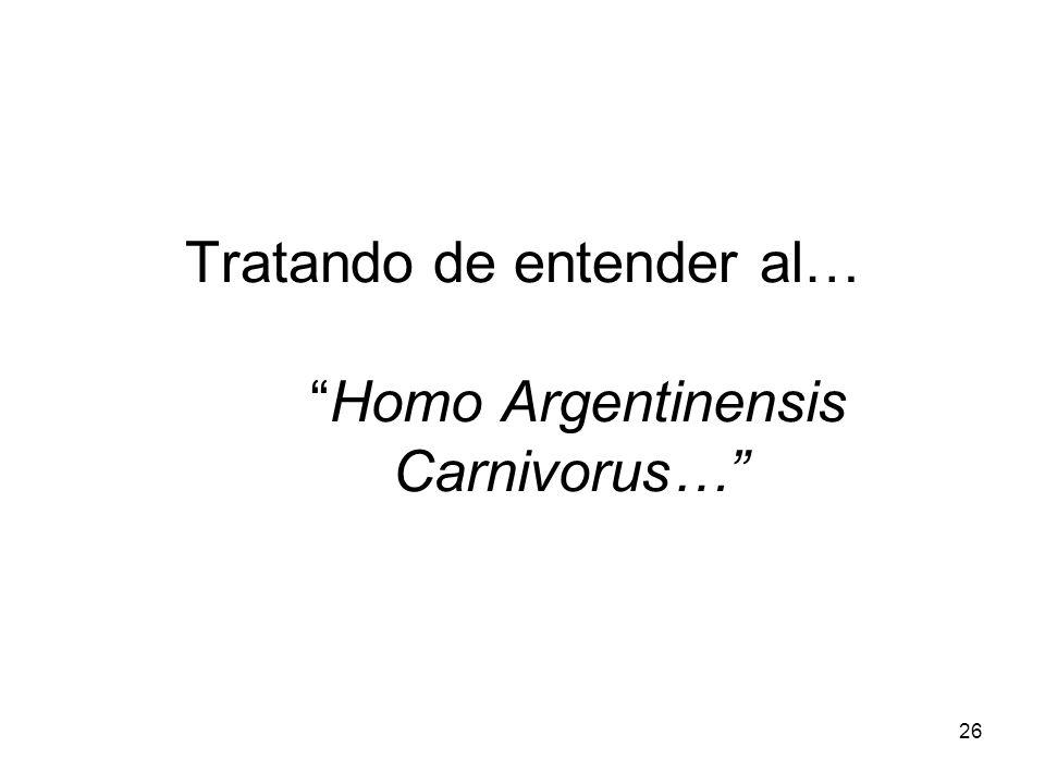 Tratando de entender al… Homo Argentinensis Carnivorus…