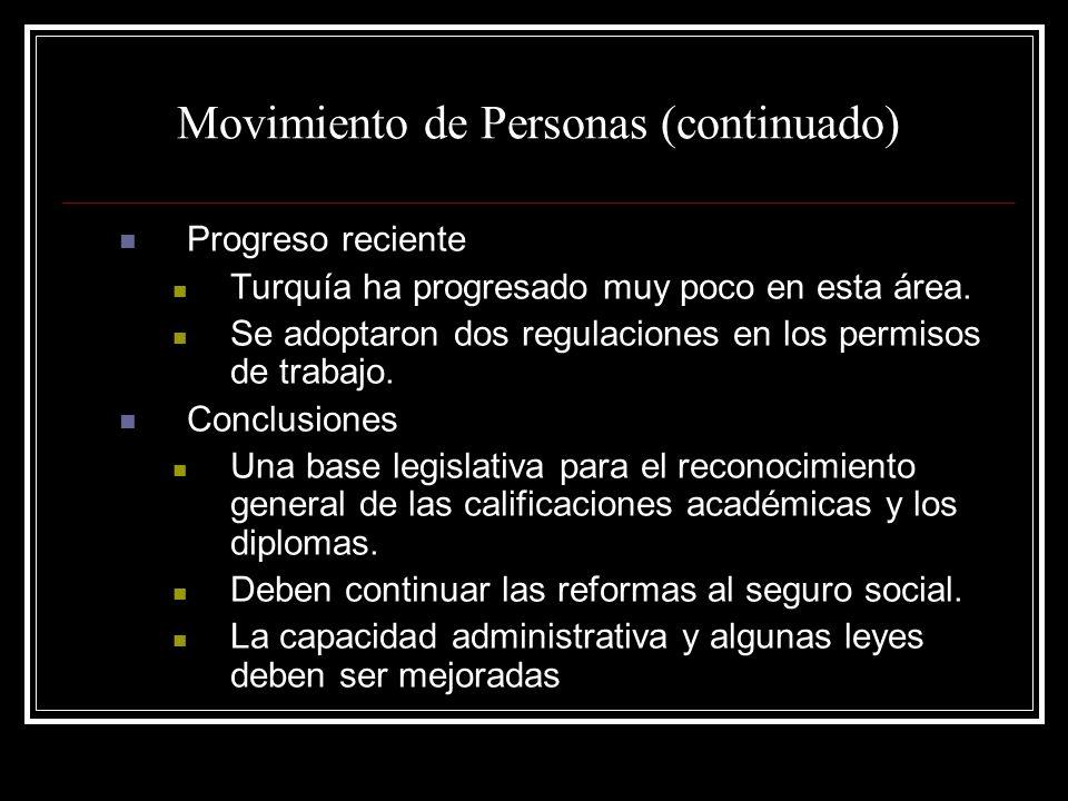 Movimiento de Personas (continuado)