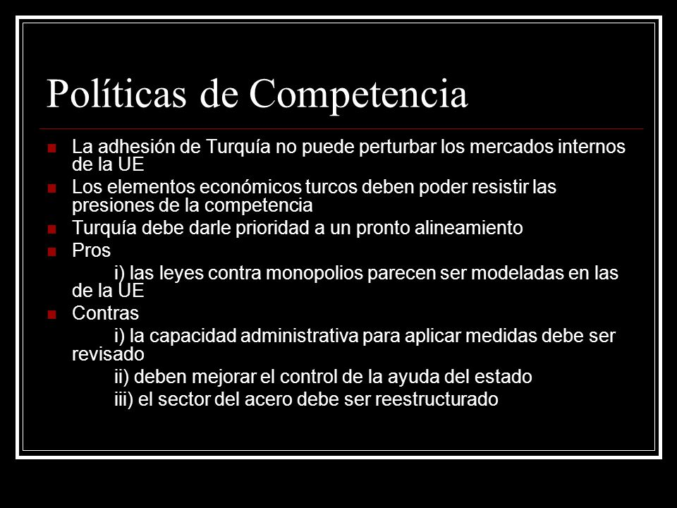 Políticas de Competencia