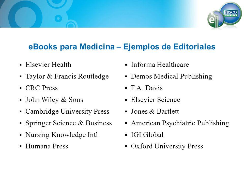 eBooks para Medicina – Ejemplos de Editoriales