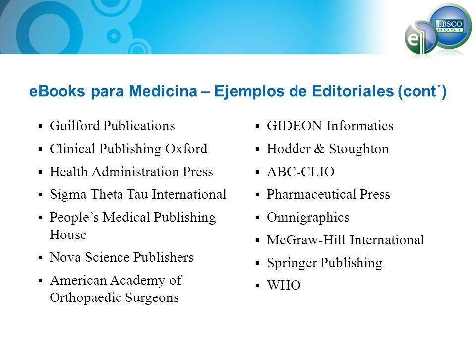 eBooks para Medicina – Ejemplos de Editoriales (cont´)