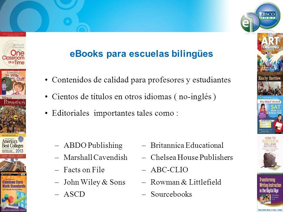 eBooks para escuelas bilingües