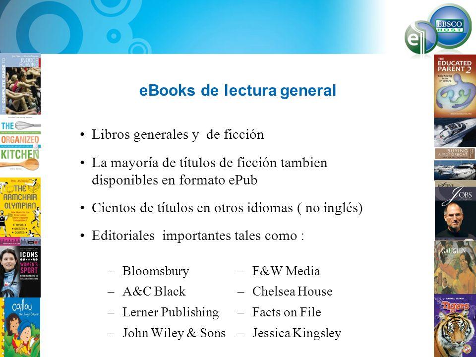 eBooks de lectura general