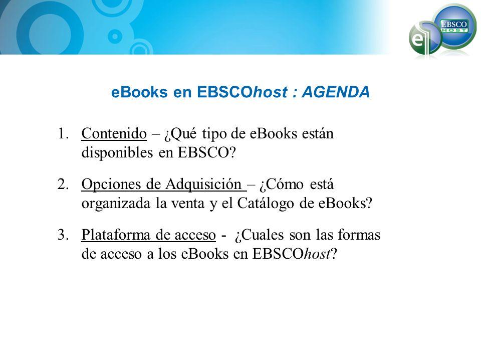 eBooks en EBSCOhost : AGENDA