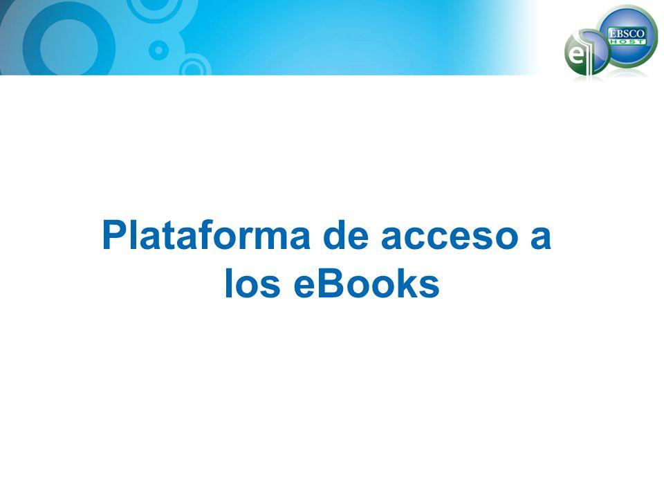 Plataforma de acceso a los eBooks