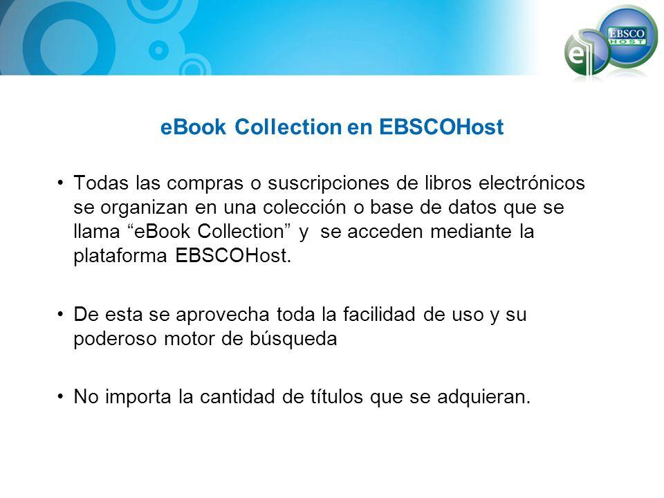 eBook Collection en EBSCOHost