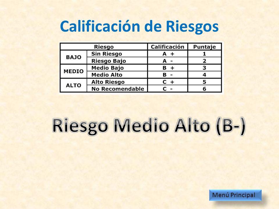 Calificación de Riesgos