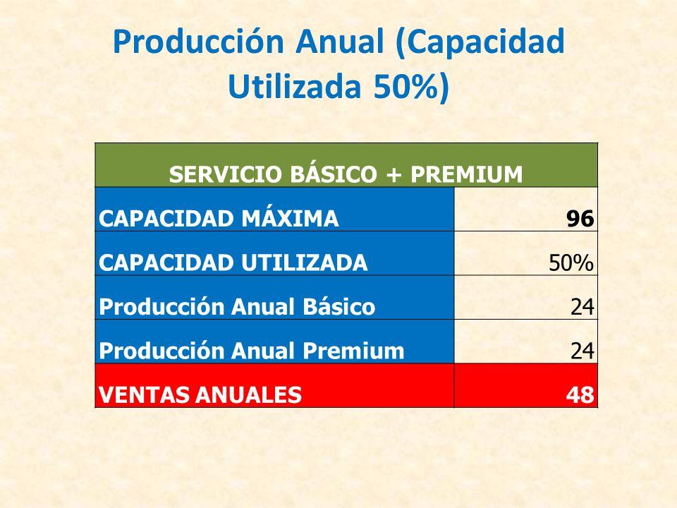 Producción Anual (Capacidad Utilizada 50%)