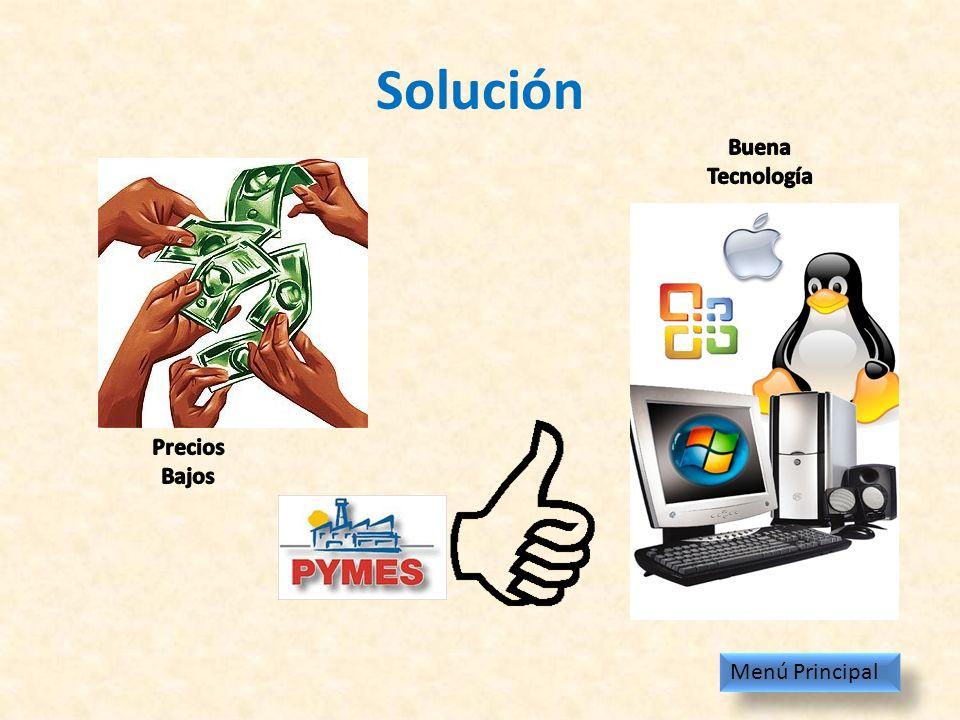 Solución Buena Tecnología Precios Bajos Menú Principal