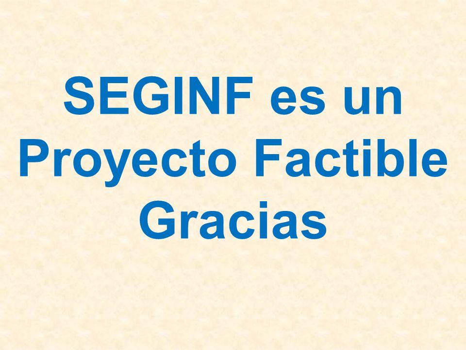 SEGINF es un Proyecto Factible Gracias