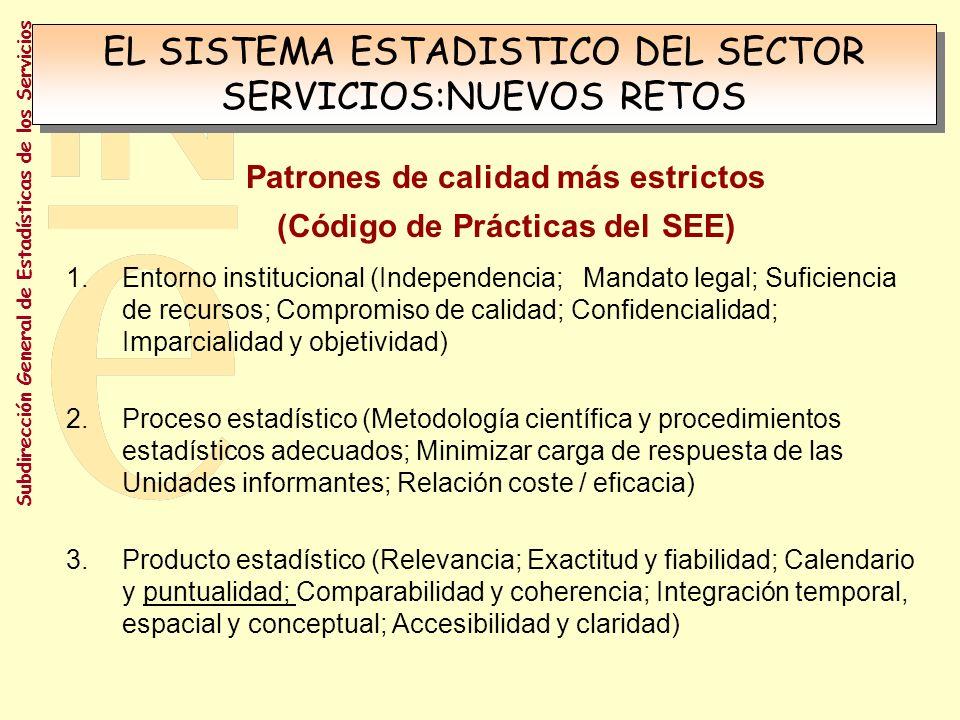 EL SISTEMA ESTADISTICO DEL SECTOR SERVICIOS:NUEVOS RETOS