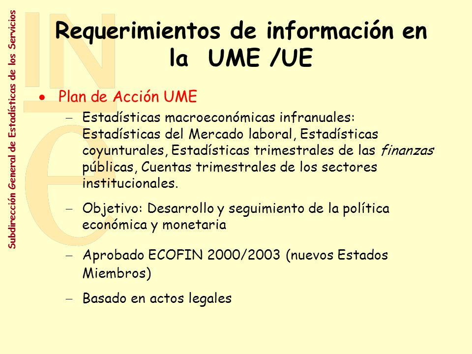 Requerimientos de información en la UME /UE