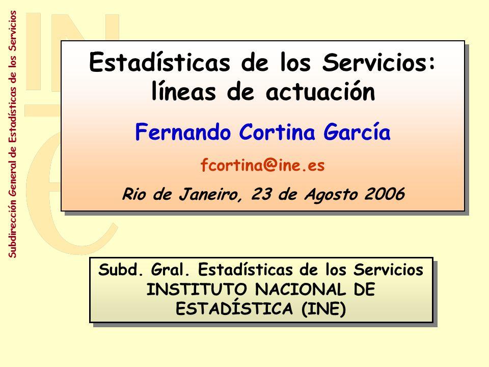 Estadísticas de los Servicios: líneas de actuación