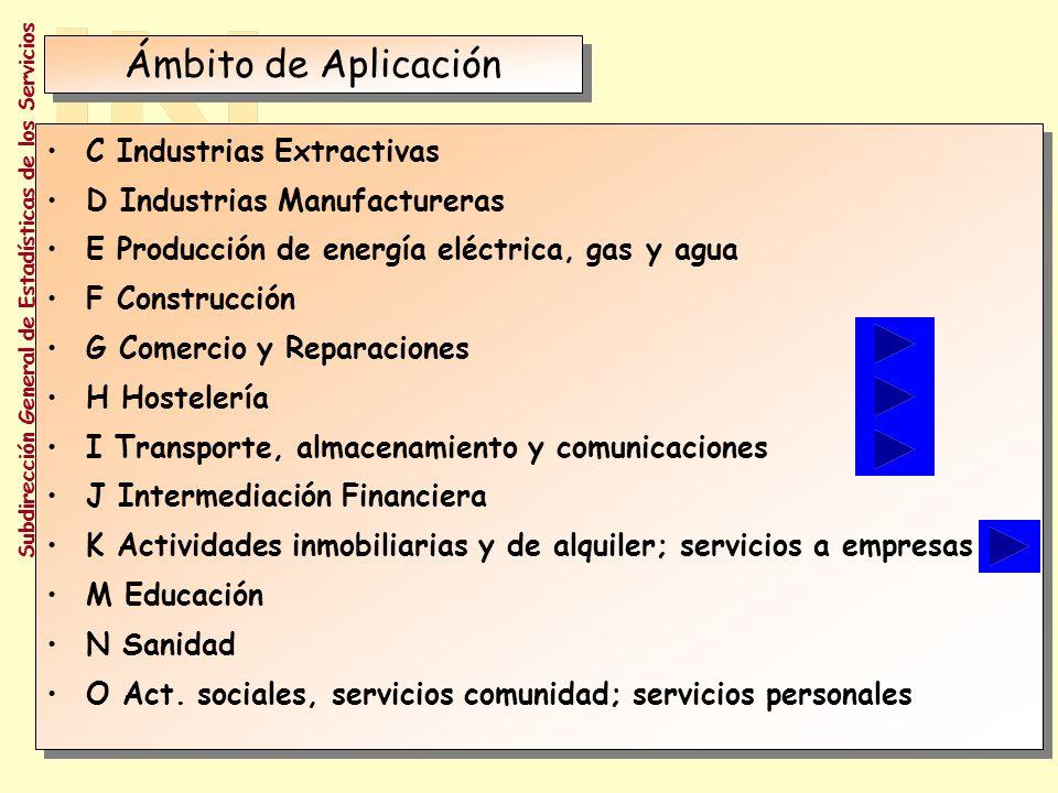 Ámbito de Aplicación C Industrias Extractivas