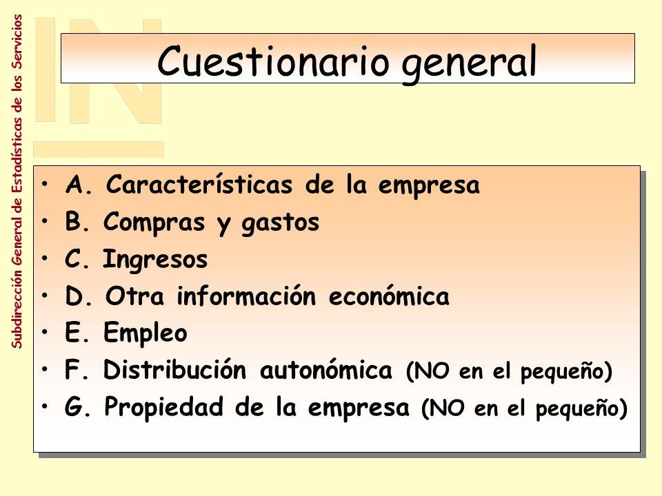 Cuestionario general A. Características de la empresa