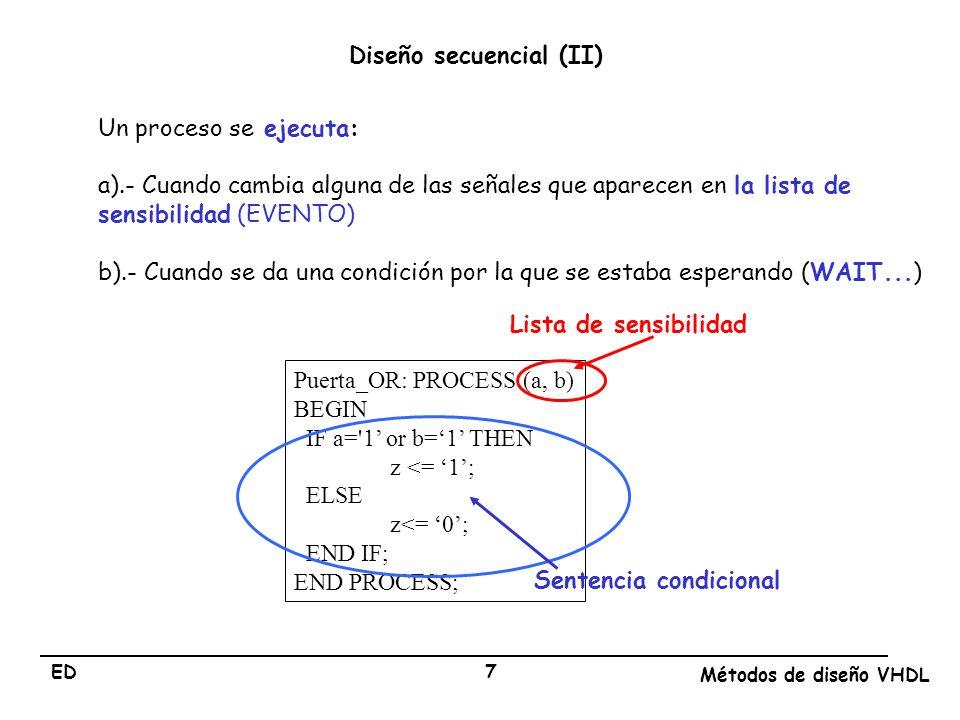 Diseño secuencial (II)
