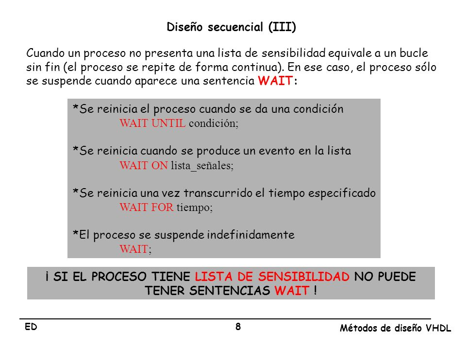 Diseño secuencial (III)