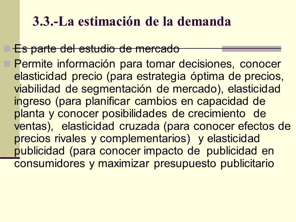 3.3.-La estimación de la demanda