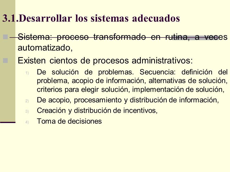 3.1.Desarrollar los sistemas adecuados