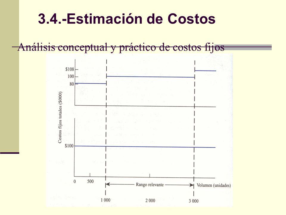 Análisis conceptual y práctico de costos fijos