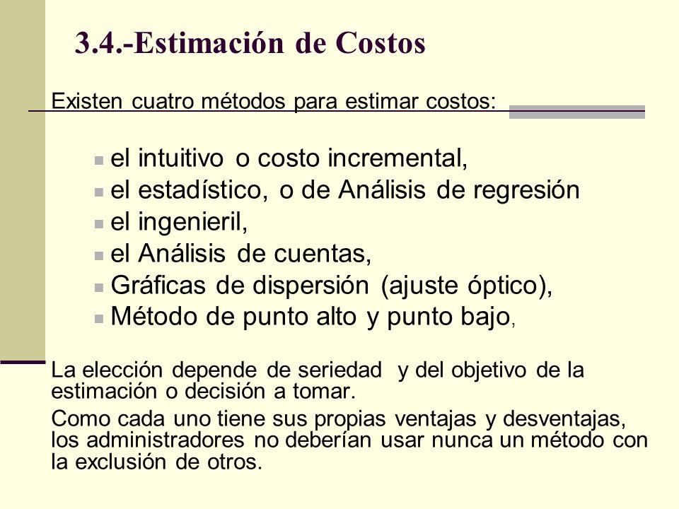 3.4.-Estimación de Costos el intuitivo o costo incremental,