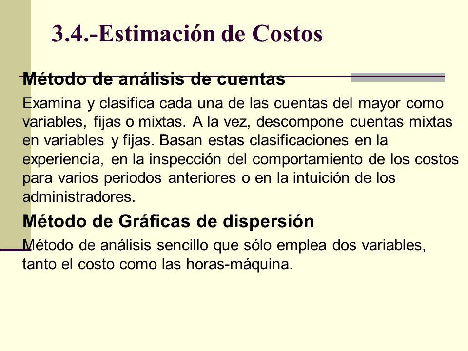 3.4.-Estimación de Costos Método de análisis de cuentas