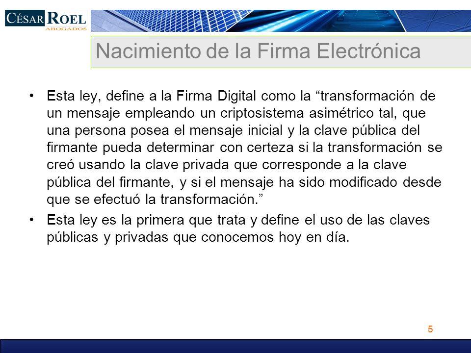 Nacimiento de la Firma Electrónica