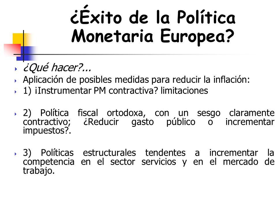 ¿Éxito de la Política Monetaria Europea