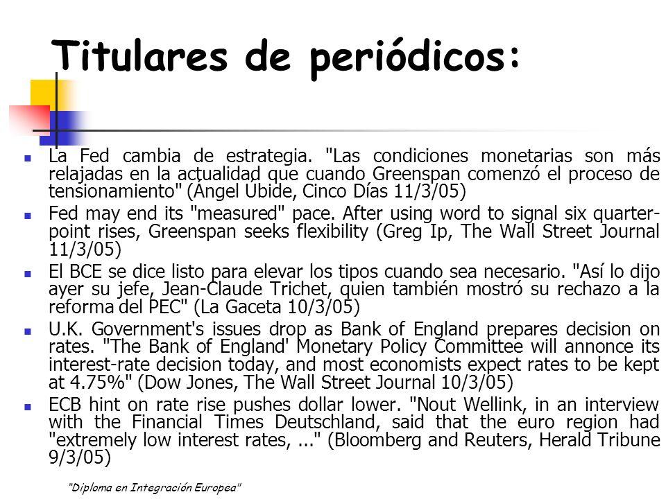 Titulares de periódicos: