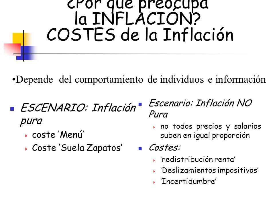 ¿Por qué preocupa la INFLACIÓN COSTES de la Inflación